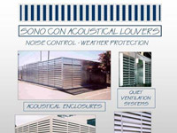 SonoCon Typical Acoustical Louver Applications